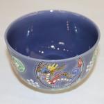 茶碗:紺紫交趾四神